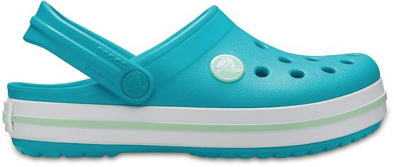 Акция на Кроксы Crocs Kids Crocband Clog 204537-4KR-C11 28-29 Бирюзовые (191448601741) от Rozetka