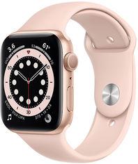 Акция на Apple Watch Series 6 44mm Gps Gold Aluminum Case with Pink Sand Sport Band (M00E3) от Y.UA