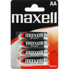 Акция на Солевая батарейка Maxell AA/R6 4шт/уп blister (4902580153373) от Allo UA