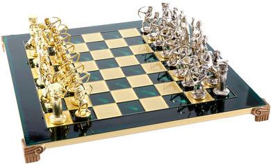 Акция на Шахматы Manopoulos Лучники в деревянном футляре 44х44 см Зеленые (S10GRE) от Rozetka