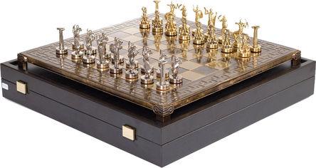 Акция на Шахматы Manopoulos Битва титанов в деревянном футляре 36 х 36 см 4.8 кг (S18MBRO) от Rozetka