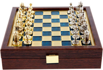 Шахматы Manopoulos Византийская империя, синий, 20 x 20 см (SK1BLU) от Rozetka