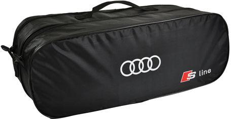 Акция на Сумка-органайзер в багажник Ауди С-лайн черная размер 50 х 18 х 18 см (03-099-2Д) от Rozetka