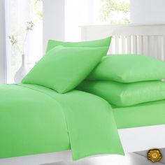 Акция на Комплект постельного белья  Еней-Плюс В0011 зеленый Евро от Allo UA