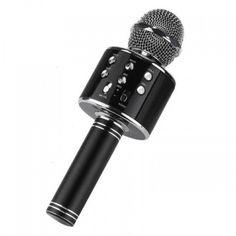 Акция на Караоке микрофон WS858 Черный (KL03) от Allo UA