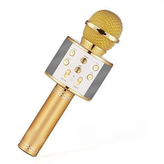 Акция на Беспроводной микрофон для караоке с изменением голоса Bluetooth WSTER WS-858 от Allo UA