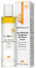 Акция на Противовоспалительный очищающий двухфазный тоник Derma E с маслом чайного дерева, витамином Е и розовой водой 50 мл (030985037050) от Rozetka