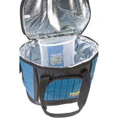 Акция на Сумка-холодильник 18 л + аккумулятор холода GREEN CAMP, термосумка синяя с черным от Allo UA