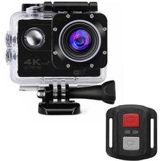 """Акция на Lesko F60R Black LCD экран 2"""" Waterproof 30М 4K Ultra HD Wi Fi Батарея 900 mAh пульт ДУ от Allo UA"""