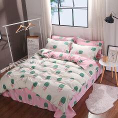 Акция на Комплект постельного белья MirSon Бязь 17-0229 Kruzita 2х160х220 (2200001893986) от Rozetka