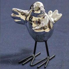 Сувенир 11.5х7.5х12см Пташка Olens 0630-16 серебро от Podushka