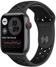 Apple Watch Series 6 Nike 44mm GPS+LTE Space Gray Aluminum Case with Anthracite/Black Nike Sport Band (M0GL3) от Stylus