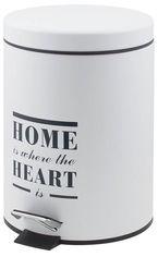 Акция на Ведро для мусора Trento Home Heart белый 5 л (46407) от Rozetka