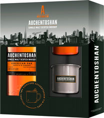 Акция на Виски Auchentoshan American Oak 8 лет выдержки 0.7 л 40% + 2 стакана (5010496005316) от Rozetka
