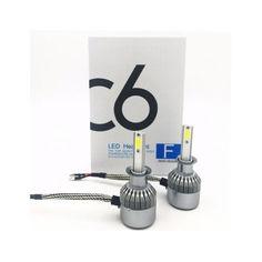 Акция на Комплект LED ламп C6 HeadLight H1 12v COB от Allo UA