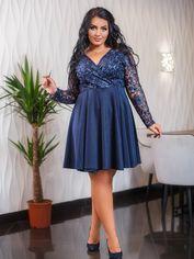 Акция на Платье DNKA с547 52 Синее (2000000449579) от Rozetka