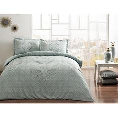 Акция на Комплект постельного белья Tac сатин Olivia V54 mint евро ментоловый (TAC60230311) от Allo UA