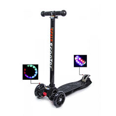 Акция на Детский самокат со светящими колесами Scooter MAXI Черный от Allo UA