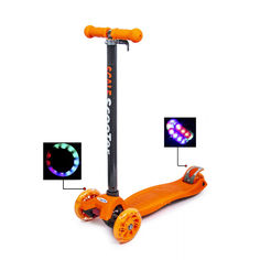 Акция на Детский самокат со светящими колесами Scooter MAXI Оранжевый от Allo UA