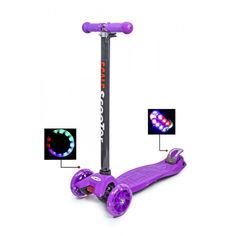 Акция на Детский самокат со светящими колесами Scooter MAXI Фиолетовый от Allo UA