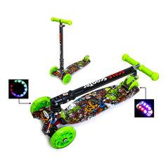 Акция на Детский самокат Scooter Maxi со складной ручкой Monstres от Allo UA