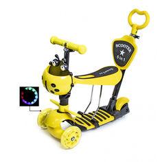 "Акция на Детский самокат Scooter 5in1 с корзинкой ""Божья коровка"" Желтый от Allo UA"
