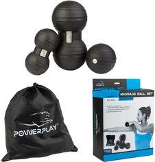 Набор массажных мячей PowerPlay 4007 3 шт Черные (PP_4007_Black(3pcs)) от Rozetka