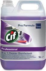 Акция на Высококонцентрированное средство Cif Professional 2 в 1 для мытья и дезинфекции всех поверхностей 5 л (25488860) от Rozetka