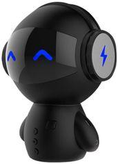 Акция на Портативная колонка-робот UTG-T с функцией караоке и и микрофоном М10 Black (4820176245724) от Rozetka
