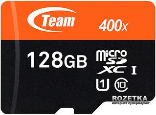 Акция на Team MicroSDXC 128GB Class 10 UHS-I + SD adapter от Rozetka