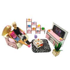 """Акция на Кукольная мебель ЭКО для кукол в кукольный домик - Набор """";Гостиная""""; из 5 предметов (3113) от Allo UA"""
