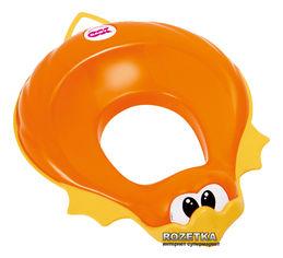 Акция на Детская накладка на унитаз Ok Baby Ducka анатомической формы Оранжевая (37854530) от Rozetka