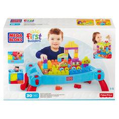Акция на Детский Игровой Развивающий Стол для конструирования Строй и развивайся Мега Блокс - Mega Bloks First Builders от Allo UA