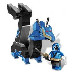 Акция на Детский Игровой Конструктор для мальчиков Синий Зорд-Дракон 115 деталей Mega Bloks Power Rangers Samurai от Allo UA