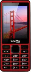 Акция на Мобільний телефон Sigma mobile X-style 36 Point Red от Територія твоєї техніки