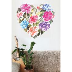 Акция на Наклейка виниловая Zatarga Сердце из цветов ♡ разные цвета от Allo UA