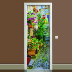 Акция на Наклейка на дверь Прованс (виниловая наклейка, самоклейка, оклеить дверь) от Allo UA