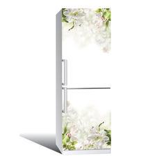 Акция на Наклейка на холодильник Нежность (виниловая наклейка, самоклейка, оклеить холодильник, декор ) от Allo UA