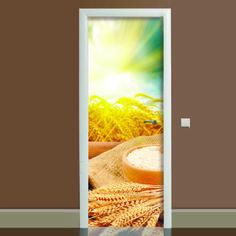 Акция на Наклейка на дверь Этно (виниловая наклейка, самоклейка, оклеить дверь) от Allo UA