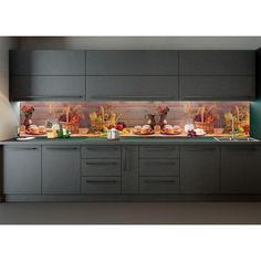 """Акция на Наклейки кухонный фартук Zatarga """"Осенний урожай """" 600х2500 мм разные цвета от Allo UA"""