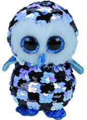 Акция на Мягкая игрушка TY Flippables Голубая сова Topper 15 см (8421363483) от Rozetka