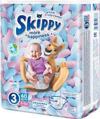 Акция на Подгузники детские Skippy More Happiness Размер 3 4-9 кг 60 шт (6957931418777) от Rozetka