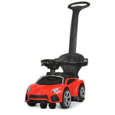 Акция на Детская Каталка-Электромобиль с родительской ручкой Bambi Porsche с музыкой, светом фар, красный арт. 4316L-3 от Allo UA