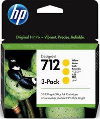 Акция на Картридж HP No.712 DesignJet Т230/Т630 Yellow 3-Pack 29-ml (3ED79A) от MOYO