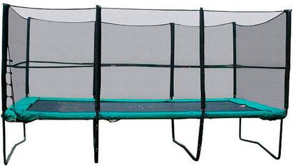 Акция на Прямоугольный батут с защитной сеткой + лестница Kidigo 457х305 см (BT457-305) от Stylus