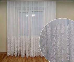 Акция на Тюль с купоном Декор-Ин Королевская лилия Белая с вышивкой 280х400 (Vi 200487) (ROZ6400052066) от Rozetka