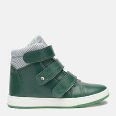 Акция на Ботинки кожаные Мальви 105-Ш-440А 32 21 см Зеленые от Rozetka