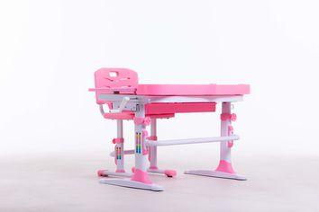 Комплект парта+стульчик Bambi М 9047 Pink + подставка для книжек от Stylus