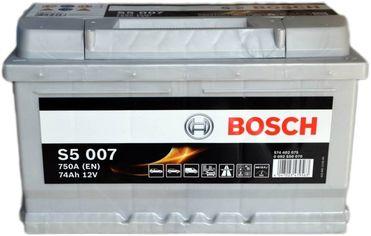 Акция на Автомобильный аккумулятор Bosch 74Аh Ев (-/+) S5007 (750EN) (0092S50070) от Rozetka