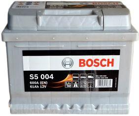 Акция на Автомобильный аккумулятор Bosch 61Аh Ев (-/+) S5004 (600EN) (0 092 S50 040) от Rozetka